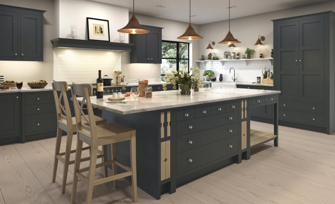 Quebec Shaker Kitchen in Painted Lava