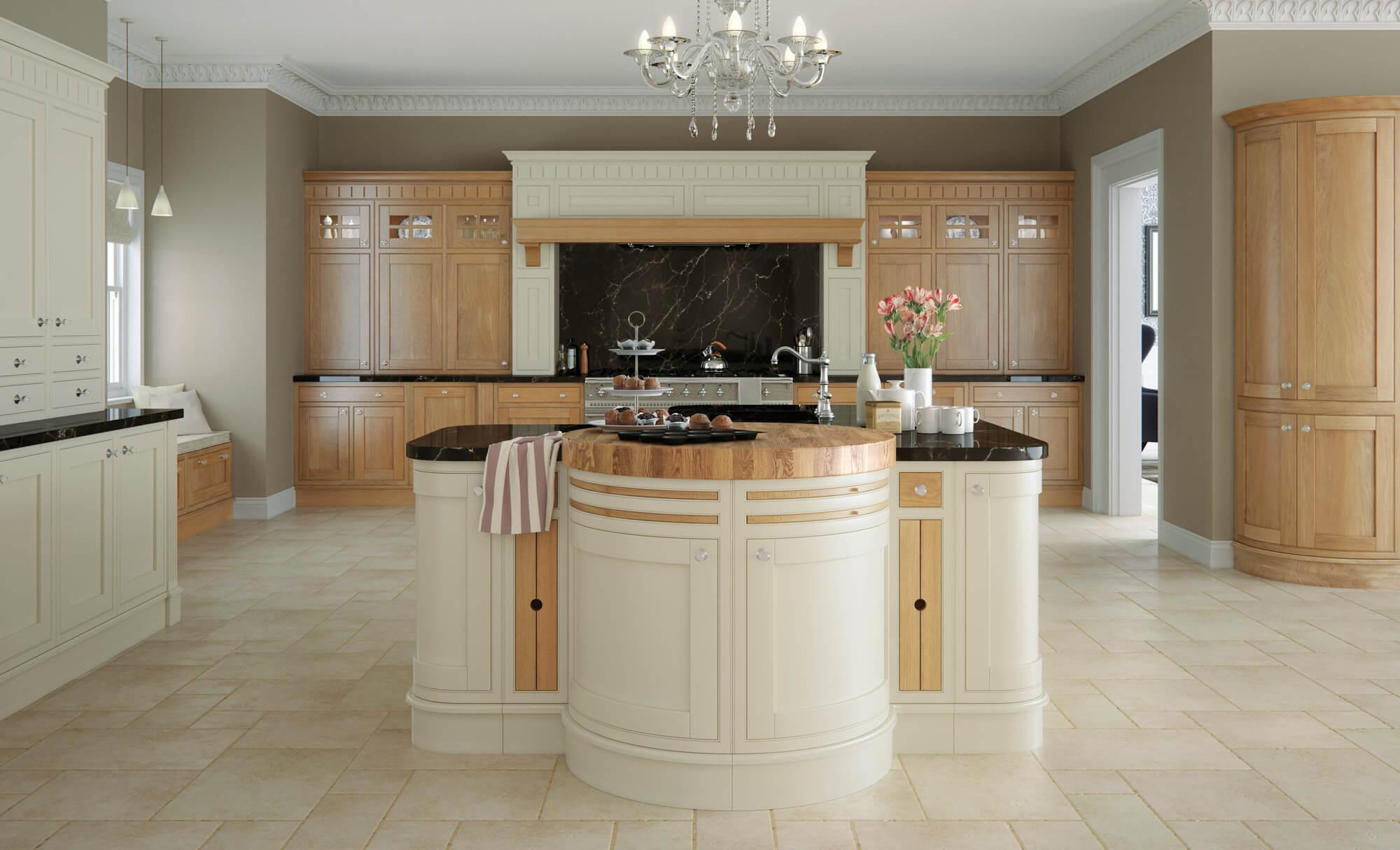 Montreal Kitchen White Oak Painted Cotton