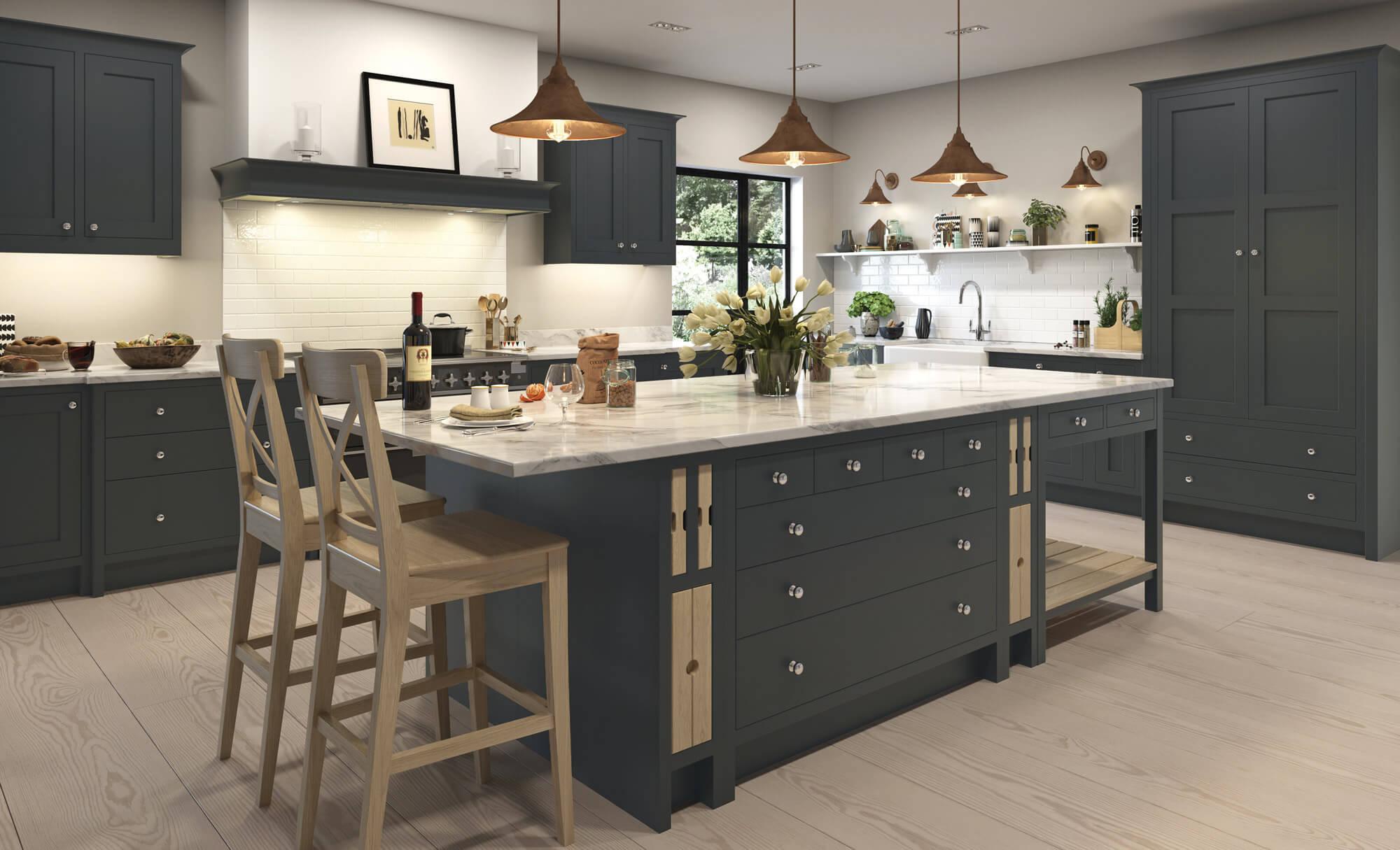 Handleless Kitchen Doors Porcelain Aisling Furniture