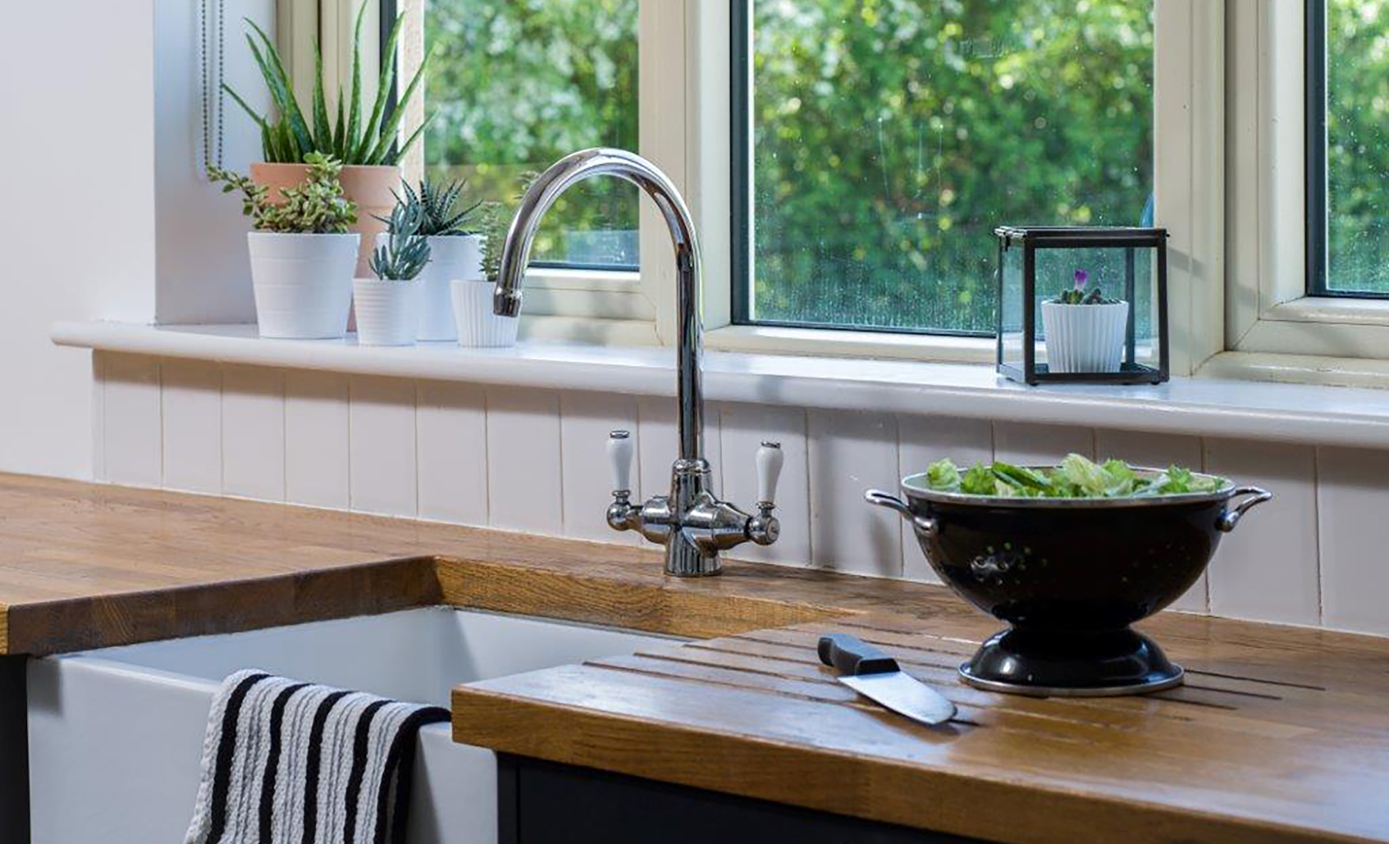 Dante Painted Kitchen in Anthracite featuring Belfast Sink, By Tierney's Kitchens